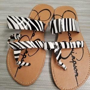Little Girls Jessica Simpson zebra sandals